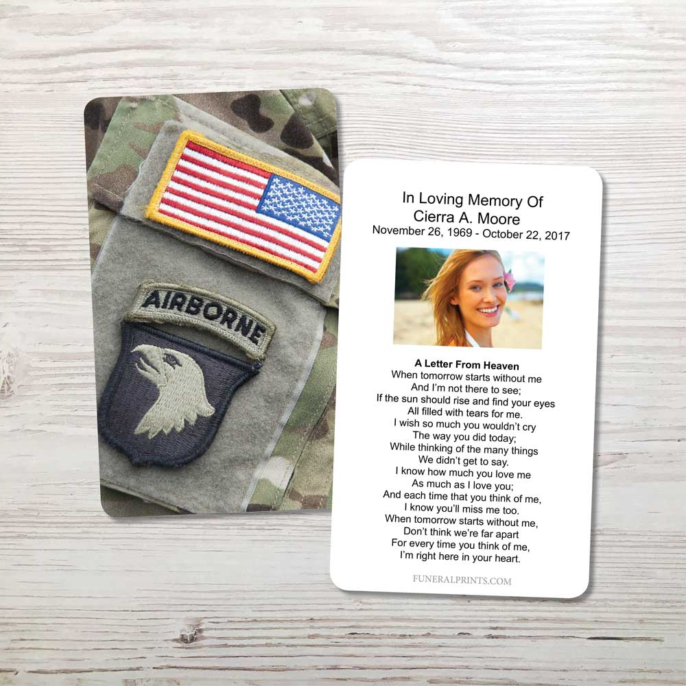 Picture of Airborne Memorial Card