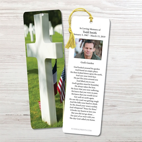 Picture of Cross Military Cemetary Bookmark
