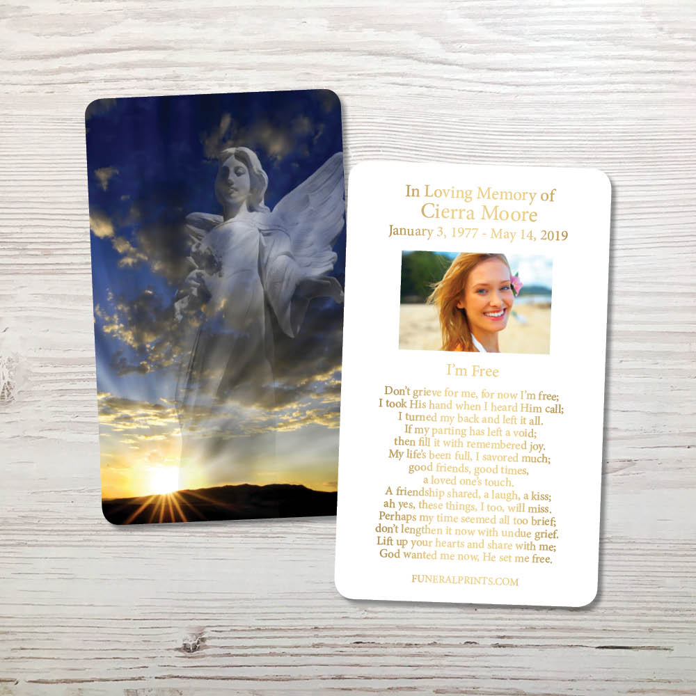 Picture of Hope and Love Angel Gold Foil Memorial Card