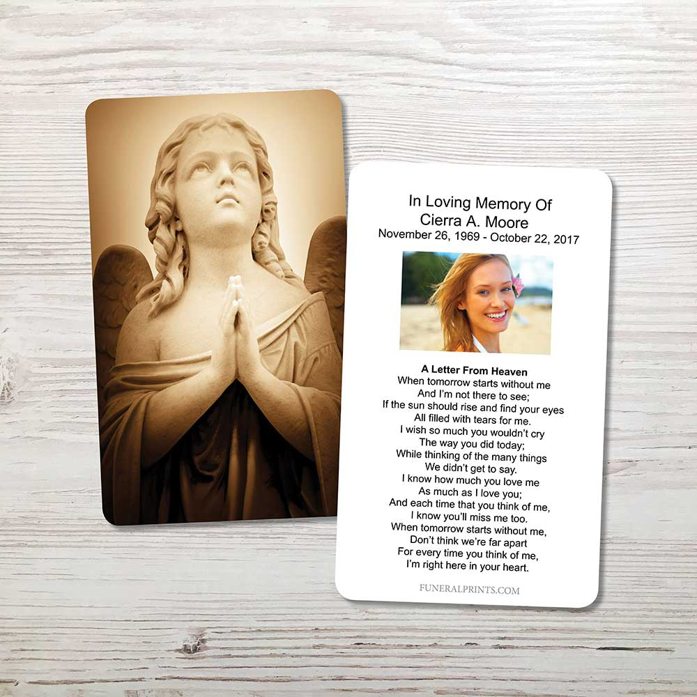 Picture of Sepia Angel Memorial Card