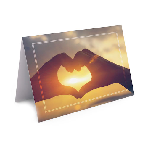 Picture of Heart Thank You Card