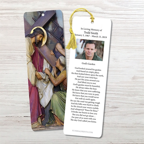 Picture of Jesus Carrying Cross 2 Bookmark