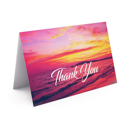 Picture of Pink Sunset Thank You Card
