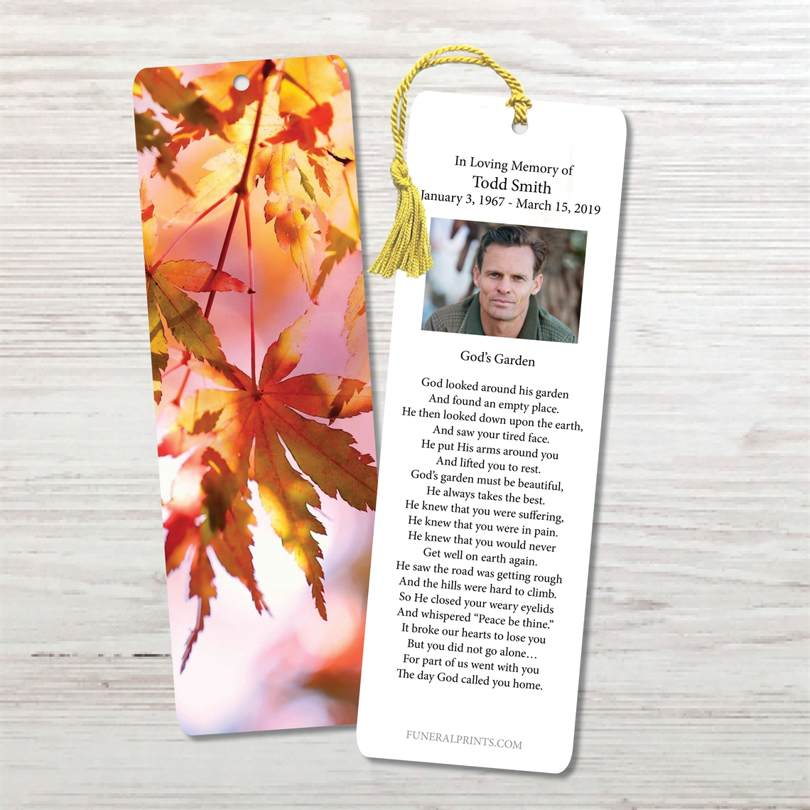 Picture of Leaves of Fall Bookmark