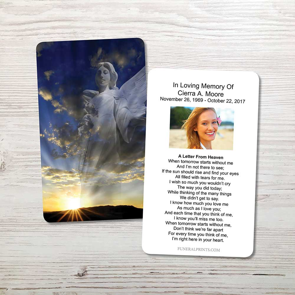 Picture of Hope and Love Angel Memorial Card