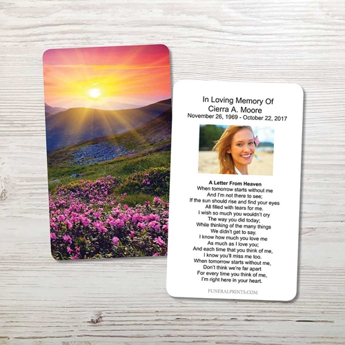 Picture of Purple Field Memorial Card