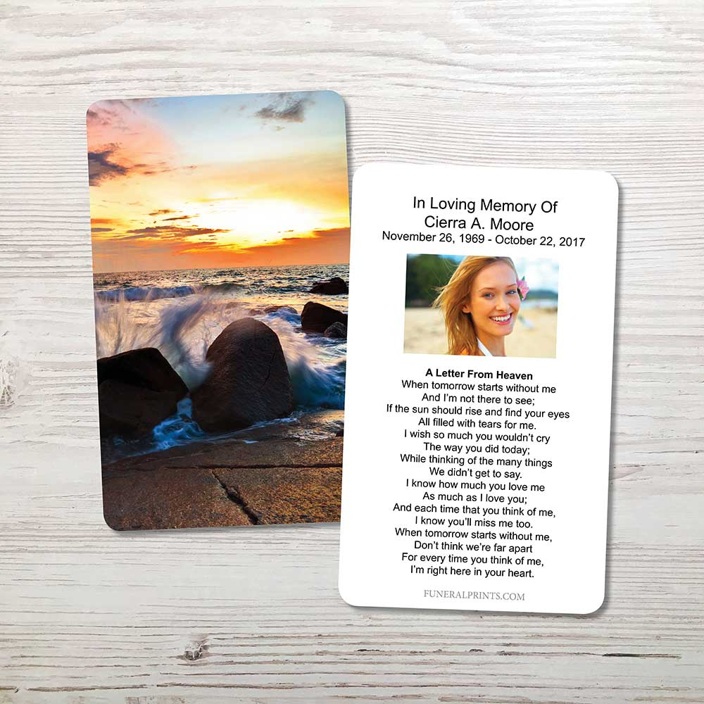 Picture of Crashing Waves Memorial Card