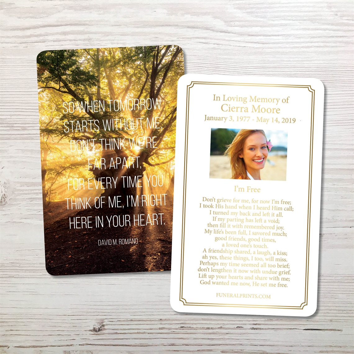 Picture of In Your Heart Premium Prayer Card