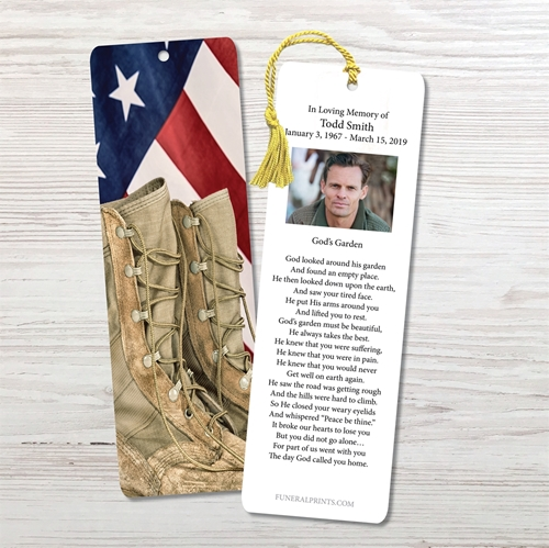 Picture of Flag & Boots Bookmark