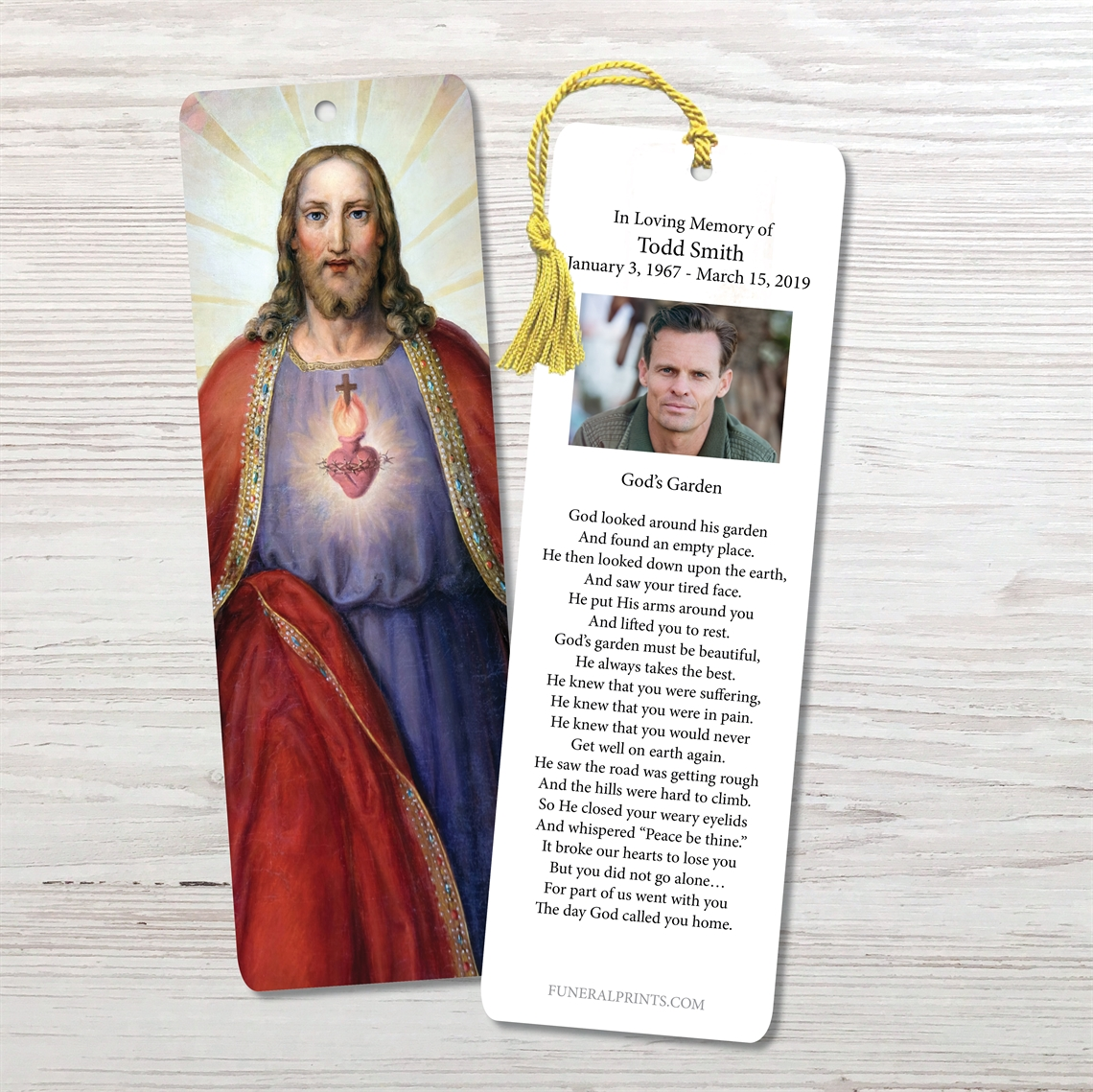 Picture of Jesus Sacred Heart Bookmark