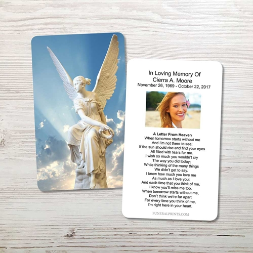 Picture of Angel 2 Memorial Card