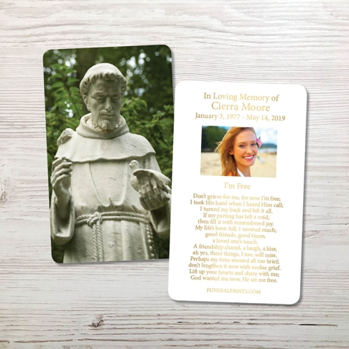 Picture of Saint Francis of Assisi Gold Foil Memorial Card