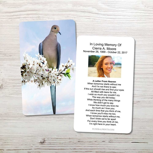 Picture of Dove Memorial Card
