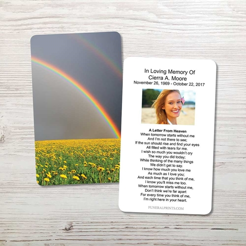 Picture of Rainbow Memorial Card