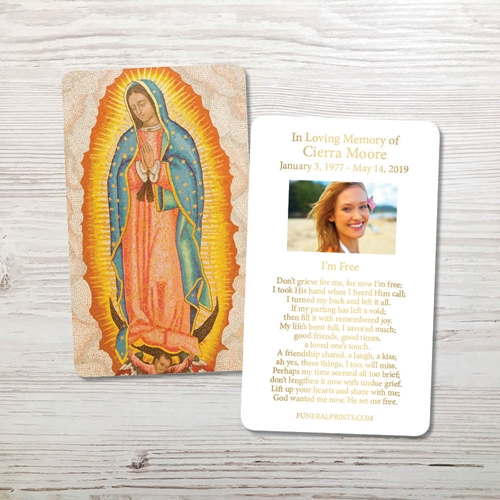Picture of Guadalupe Gold Foil Memorial Card